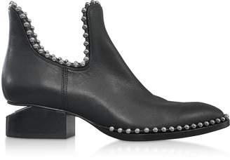 Alexander Wang Kori Black Leather Booties w/Bead Ball