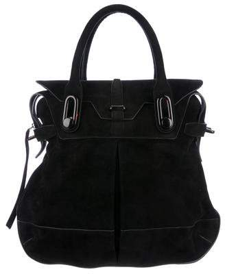 Balenciaga Tortoiseshell-Accented Suede Tote