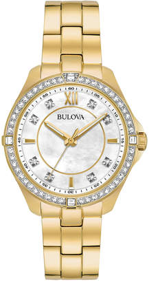 Bulova Women's Gold-Tone Stainless Steel Bracelet Watch 35mm 98L230, A Macy's Exclusive Style $299 thestylecure.com