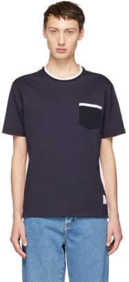 Thom Browne Navy Bicolor T-Shirt