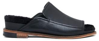 Kelsi Dagger Brooklyn Odelle Faux Fur Leather Slide Sandal