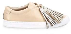 Loeffler Randall Vachetta Leather Tassel Sneakers