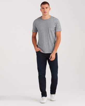 7 For All Mankind Slimmy with Clean Pocket in Dark Abyss