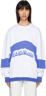 Martine Rose NAPA by White and Blue Bacchus Sweatshirt