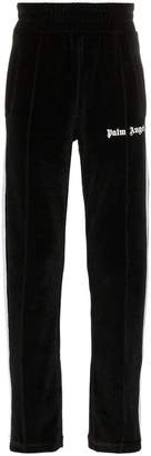 Palm Angels Chenille logo printed and side stripe track trousers