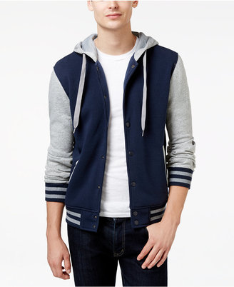 Ring of Fire Men's Hooded Varsity Jacket $45 thestylecure.com