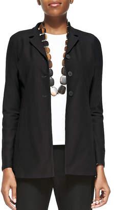 Eileen Fisher Washable-Crepe Long Jacket, Petite