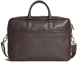 Brooks Brothers Pebble Leather Slim Briefcase