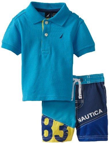 Nautica Sportswear Kids Baby-boys Infant 2 Piece Swim Set