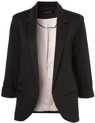 Summerwhisper Women's Vivid Color No Closure Suit Cardigan Blazer