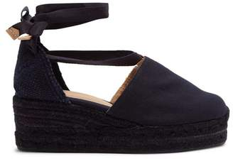 Castaner Campesina Canvas Wedge Espadrilles - Womens - Navy