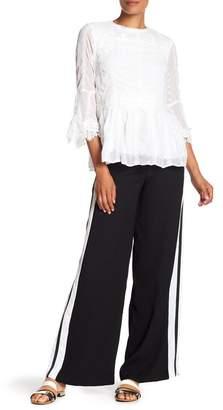 Nicole Miller New York Wide Leg Side Stripe Pants
