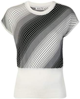 Aalto cropped wrap-effect sweater