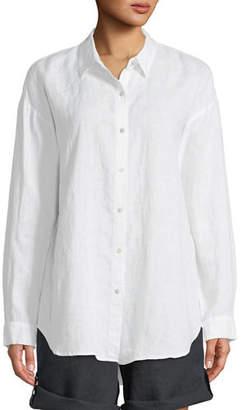 Eileen Fisher Organic Linen Boyfriend Shirt