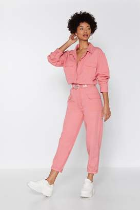 Nasty Gal Come to a Boil Denim Boilersuit