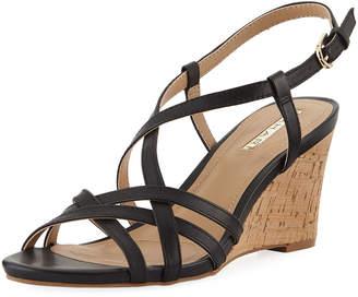 Tahari Future Leather Wedge Sandal