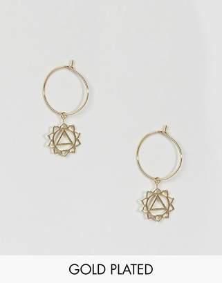 Orelia Gold Plated Chakra Hoop Earrings
