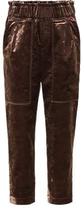 Brunello Cucinelli Cropped velvet pants