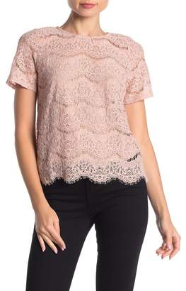Love, Fire Short Sleeve Lace Blouse
