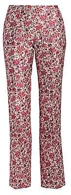 Giambattista Valli Women's Floral Jacquard Slim Straight Pants
