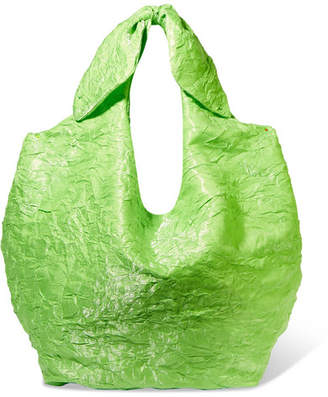 REJINA PYO - Lucie Crinkled-satin Tote - Lime green