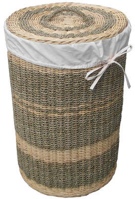 Laundry by Shelli Segal D-Art Collection Costa Round Wicker Hamper