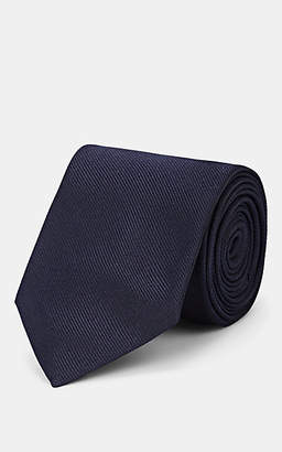 Alexander McQueen Men's Monogram Silk Necktie - Navy