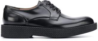 Salvatore Ferragamo stacked-sole lace-up shoes