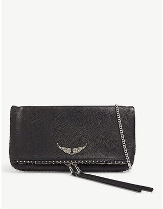 Zadig & Voltaire ZADIG&VOLTAIRE Rock studded leather clutch