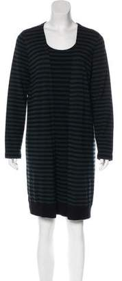 Akris Punto Long Sleeve Stripe Mini Dress