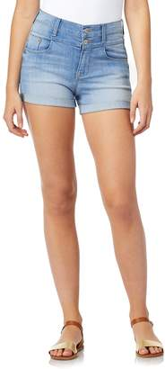 Wallflower Juniors' WallFlower Sassy High-Rise Stacked Waist Shorts