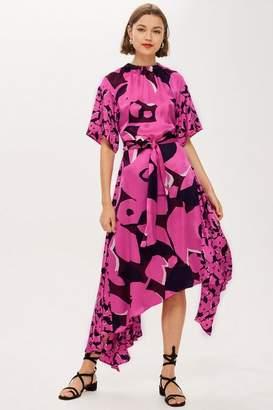 Topshop **Silk Poppy Print Dress by Boutique