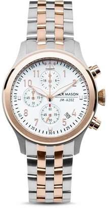 Jack Mason Two-Tone Aviator Chronograph Watch, 36mm