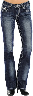 Rock & Roll Cowgirl Leather and Rhinestone Jeans - Mid Rise, Bootcut (For Women) $34.99 thestylecure.com