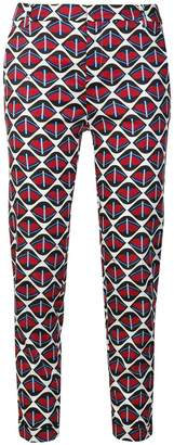 Fay printed cigarette pants