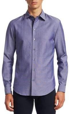 Emporio Armani Seersucker Button-Down Shirt