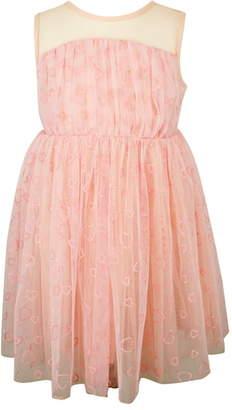 Popatu Glitter Heart Sleeveless Tulle Dress