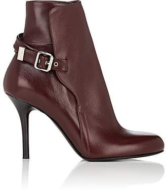Chloé Women's Scott Leather Ankle Boots - Wine