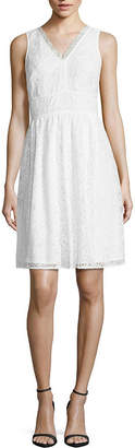 Nicole Miller Nicole By Sleeveless Fit & Flare Dress