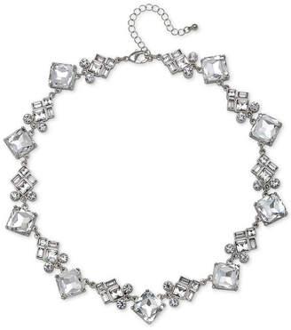 "Badgley Mischka Rose Gold-Tone Crystal Collar Necklace, 15"" + 3"" extender"