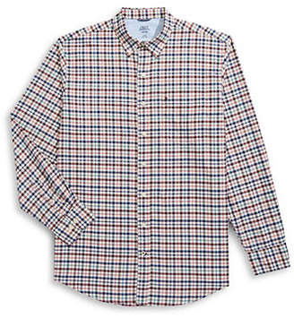 Izod Oxford Plaid Button-Down Shirt
