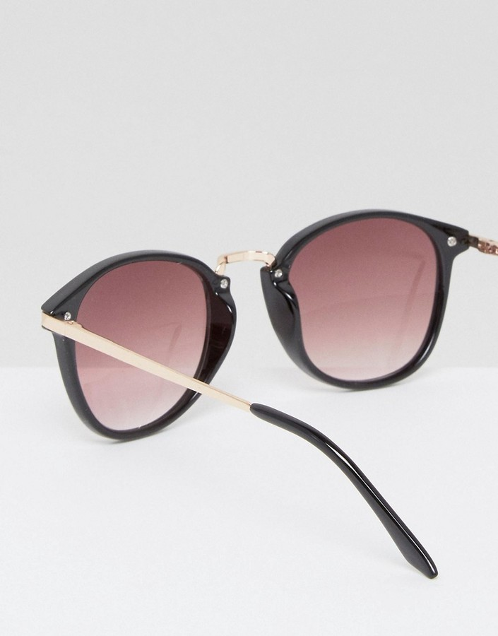A J Morgan Aj Morgan Round Sunglasses In Black