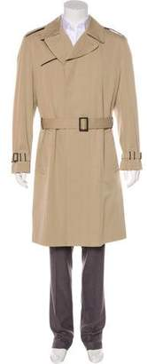 Hermes Leather-Trimmed Trench Coat