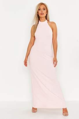 78cb569b9940 boohoo Plus High Neck Maxi Dress