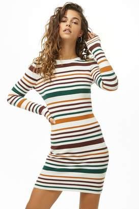 Forever 21 Variegated-Stripe Bodycon Dress