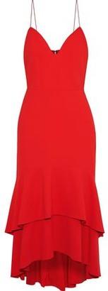 Alice + Olivia Amina Tiered Crepe Midi Slip Dress
