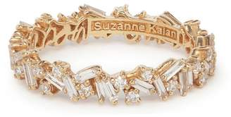 Suzanne Kalan Round and Baguette White Diamond Eternity Ring - Rose Gold