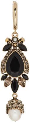 Alexander McQueen Gold Pendant Earring