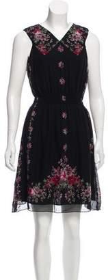 Anna Sui Floral Print Silk Dress w/ Tags