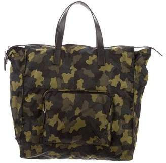 6d42b948582d Prada Saffiano-Trimmed Camouflage Tote